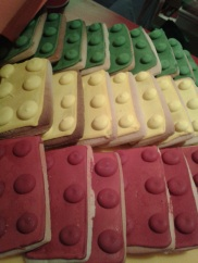 Some more amazing biscuits at - you guessed it - the LEGO Movie gala screening