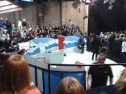 On the set of Channel 4's, The Last Leg