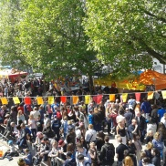 At a Spanish festival on the Southbank