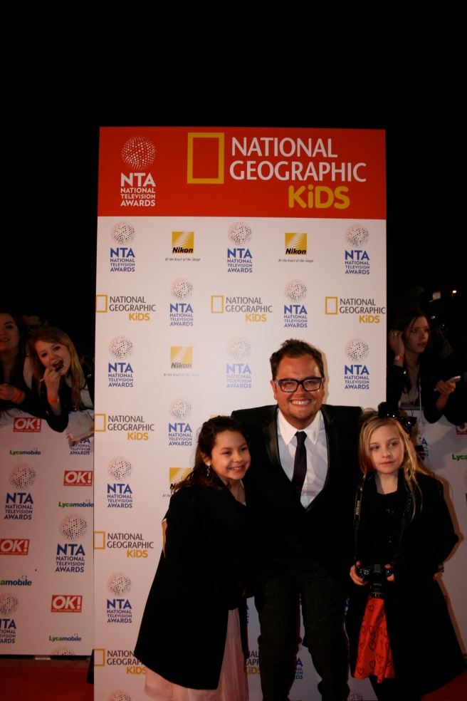 The wonderful Alan Carr with our Junior Photographers! (2014)