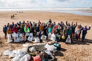 SAS Beach Clean Saunton. Pic Pete Cox